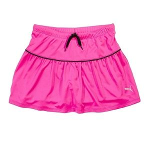 Puma pink girls athletic skirt with drawsting